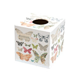 Butterfly House Tissue Box Cover - Handmade