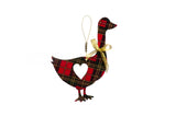 Tartan Goose Christmas Tree Decoration