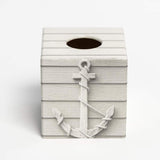 Anchor Design Tissue Box Cover - Handmade