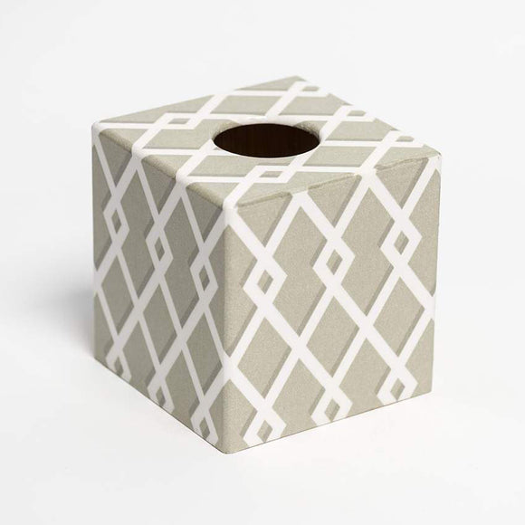 Moroccan Taupe Tissue Box Cover - Handmade