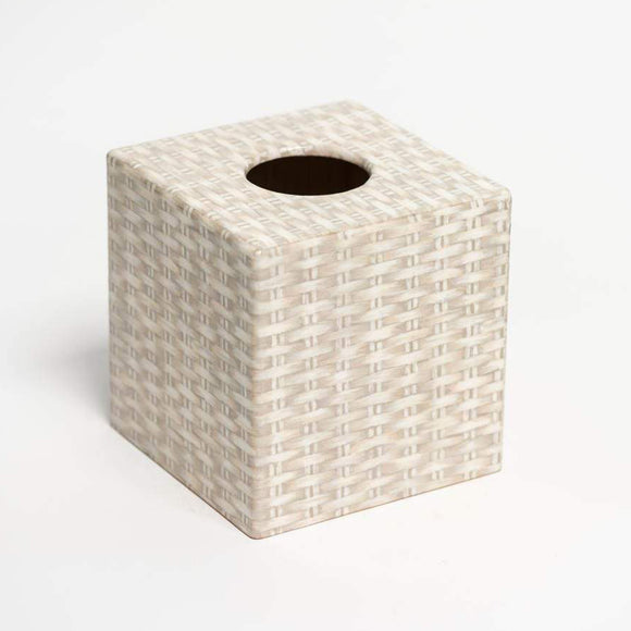 Wicker Design Tissue Box Cover - Handmade