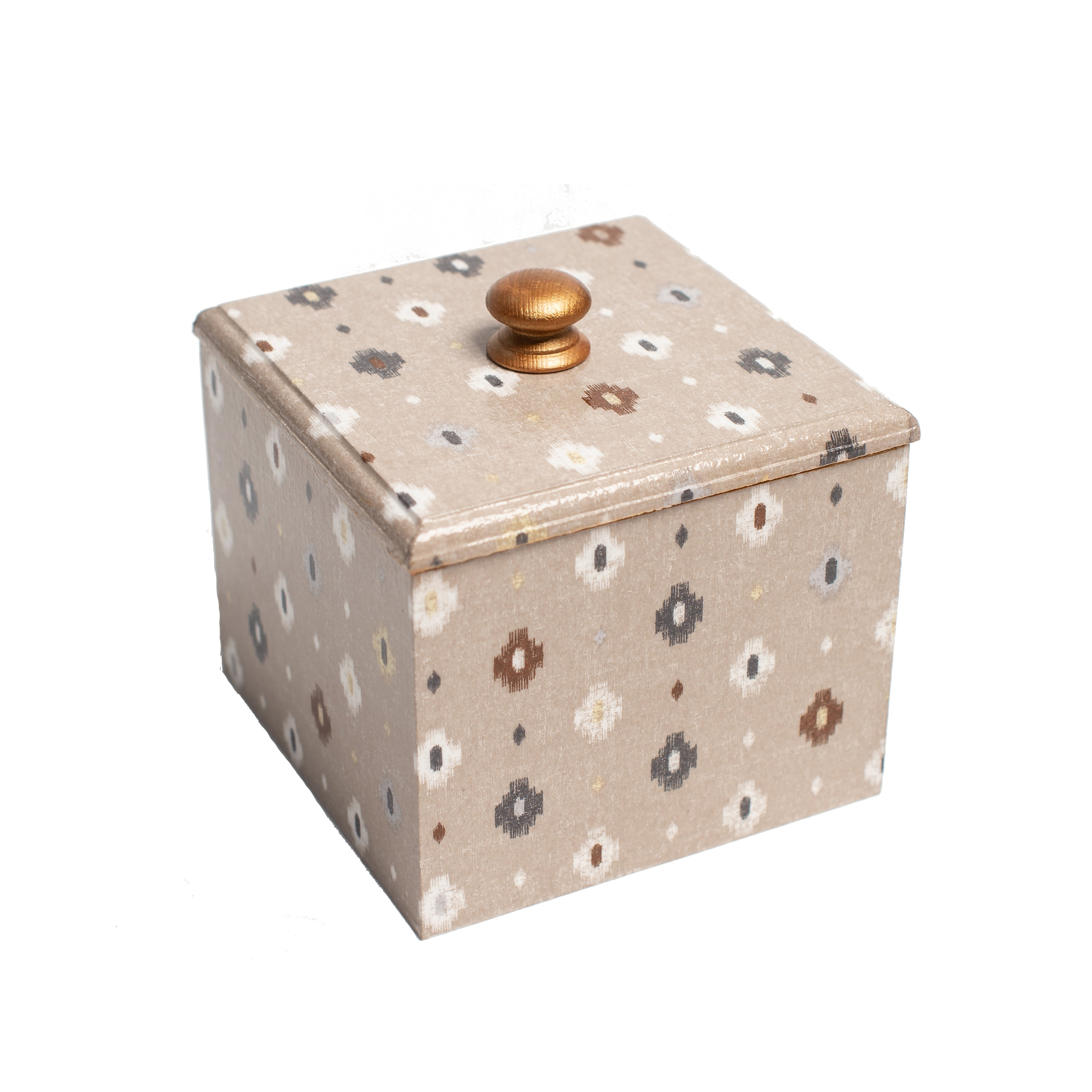 Aztec Design wooden Trinket Box
