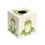 Green Frog Tissue Box Cover - Handmade