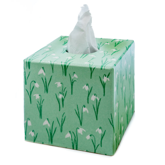 Green Snow Drop Tissue box cover