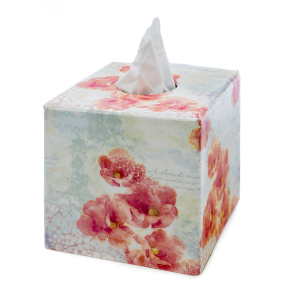 Pink Romance Tissue box cover