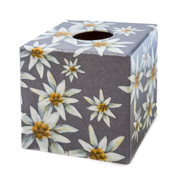 Grey Edelweiss Tissue box cover