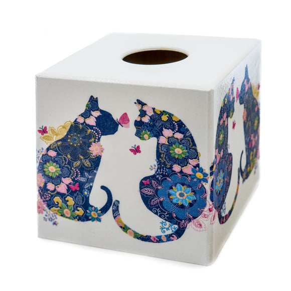 Blue Cat Tissue box cover