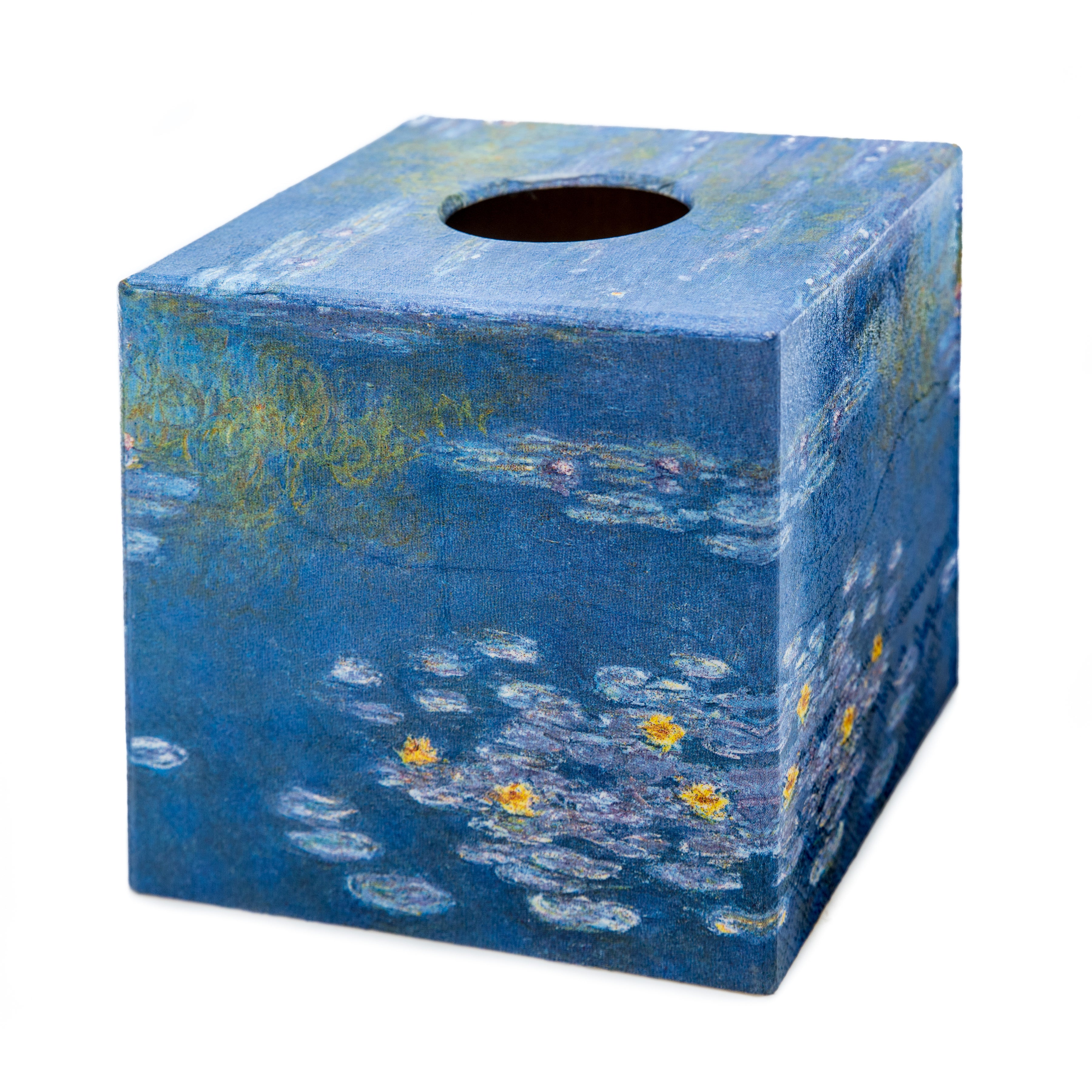 Blue Water Lilies Tissue box cover