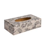 Silent Plant rectangular wooden tissue box cover