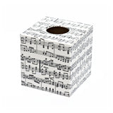 Musical Notes Tissue Box Cover - Handmade