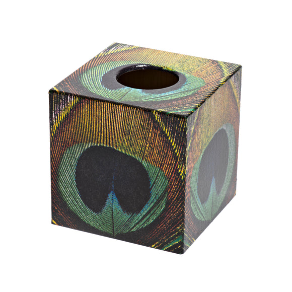 Peacock Design Tissue Box Cover - Handmade