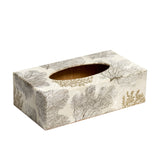 Silver Coral Rectangular Tissue Box Cover