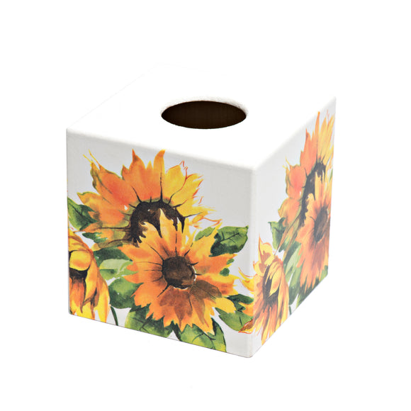 Sunflower Tissue Box Cover - Handmade