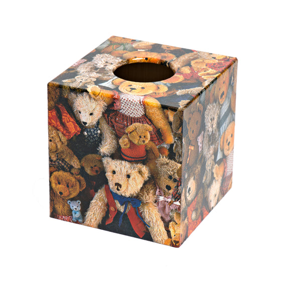 Teddy Bear Design Tissue Box Cover - Handmade
