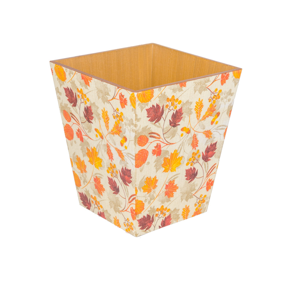 Autumn Leaf Waste Paper Bin - Handmade | Crackpots
