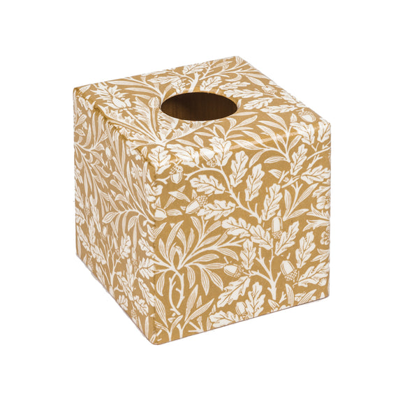 Gold Acorn Tissue Box Cover - Handmade | Crackpots