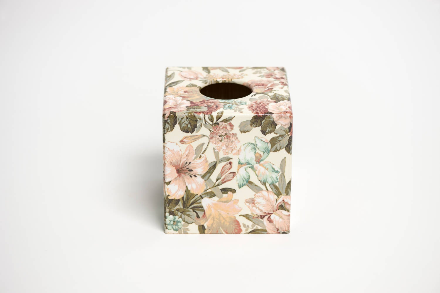 Vintage Floral Tissue Box Cover - Handmade