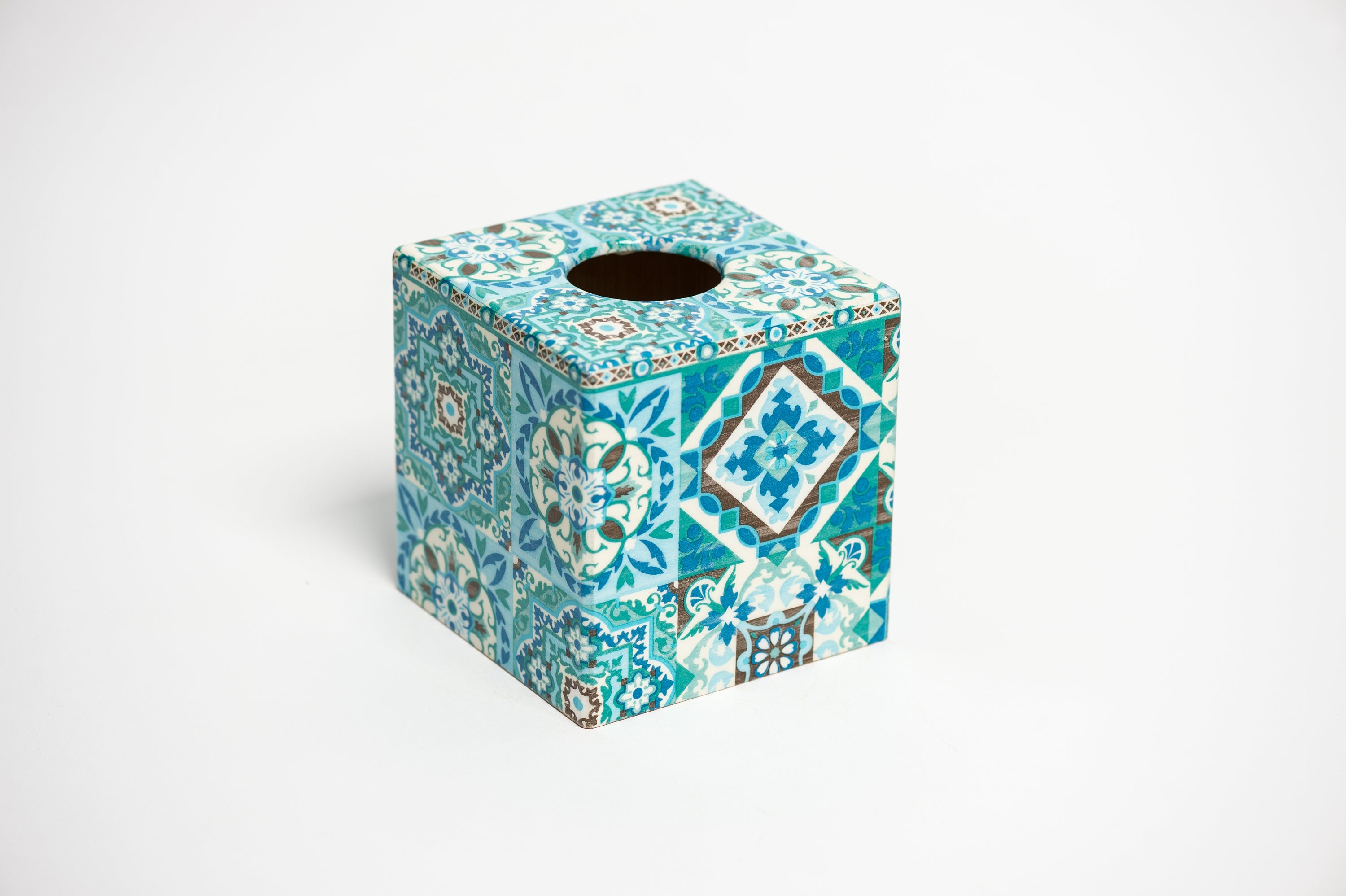 Blue Moroccan Tiles Waste Paper Bin