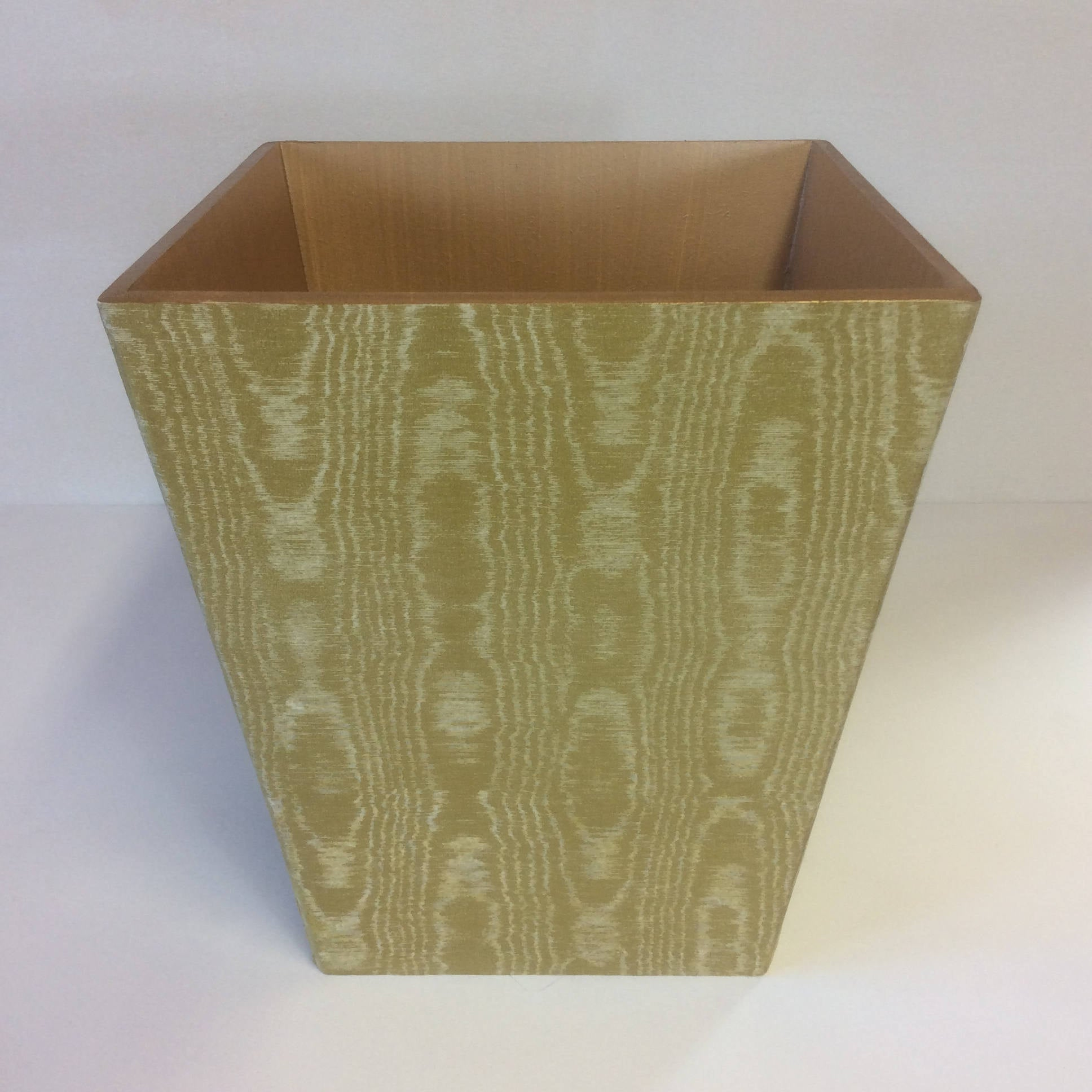 Luxury Gold Waste Paper Bin - Handmade