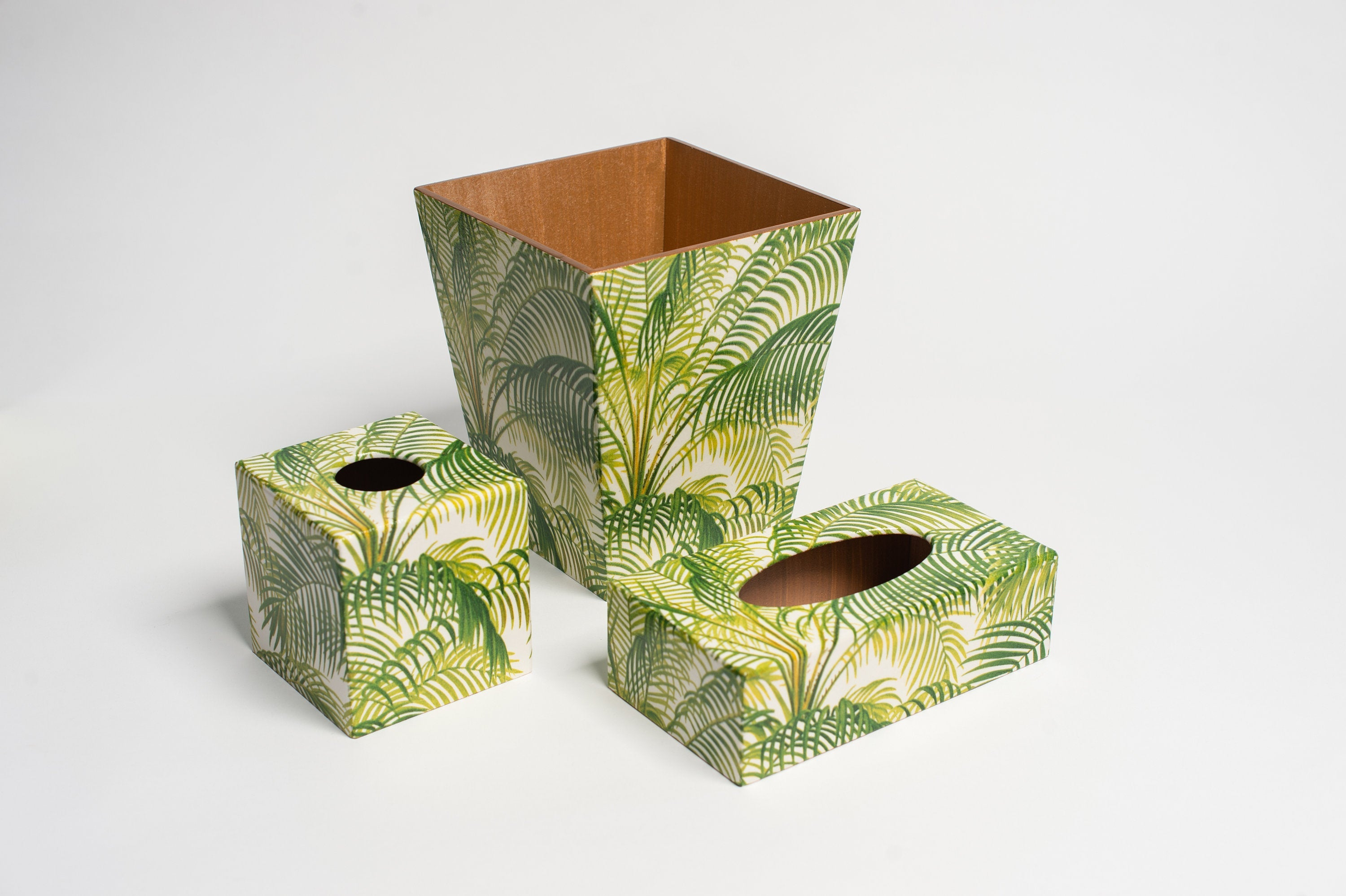 Palm Leaf Waste Paper Bin