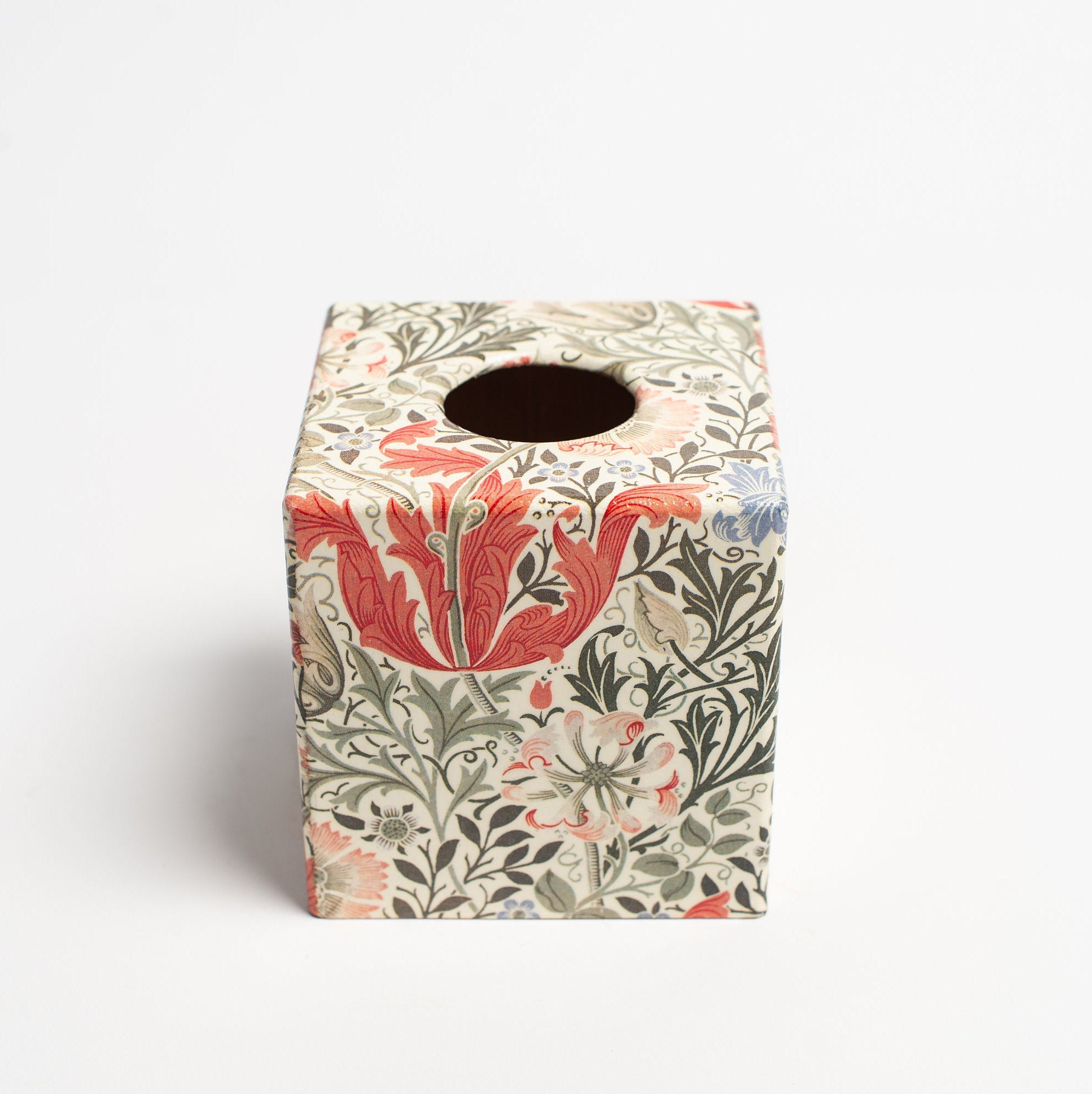 Chintz Tissue Box Cover - Handmade