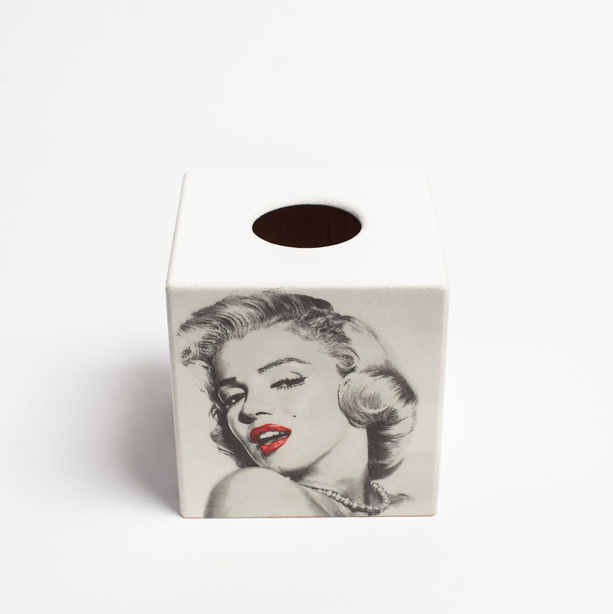Marilyn Monroe Tissue Box Cover - Handmade