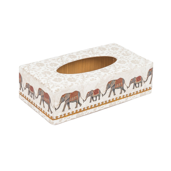 Indian Elephant Rectangle Tissue Box Cover | Crackpots