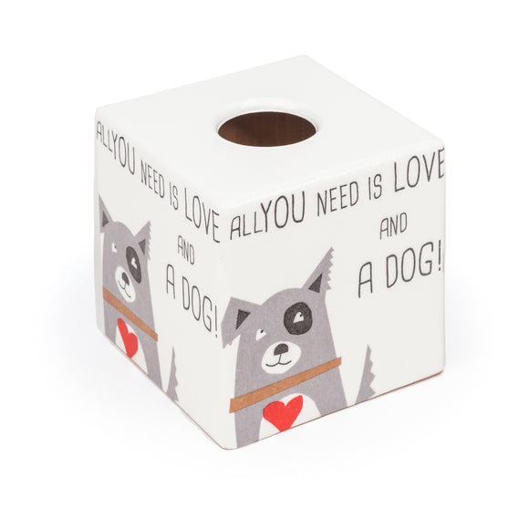 Love Dogs Tissue Box Cover - Handmade | Crackpots