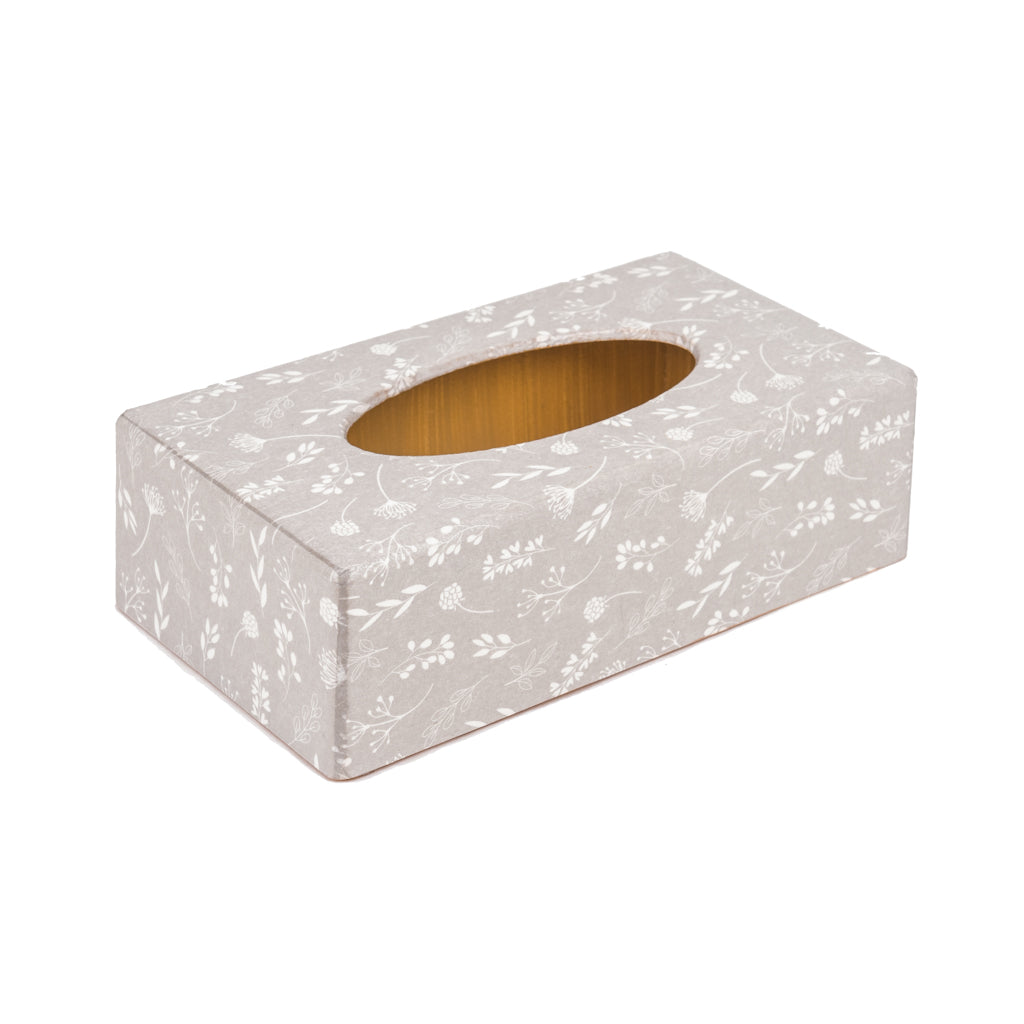 Tilda Beige Rectangle Tissue Box Cover - Handmade | Crackpots