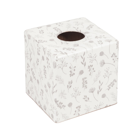 Tilda White Wooden Tissue Box Cover - Handmade | Crackpots