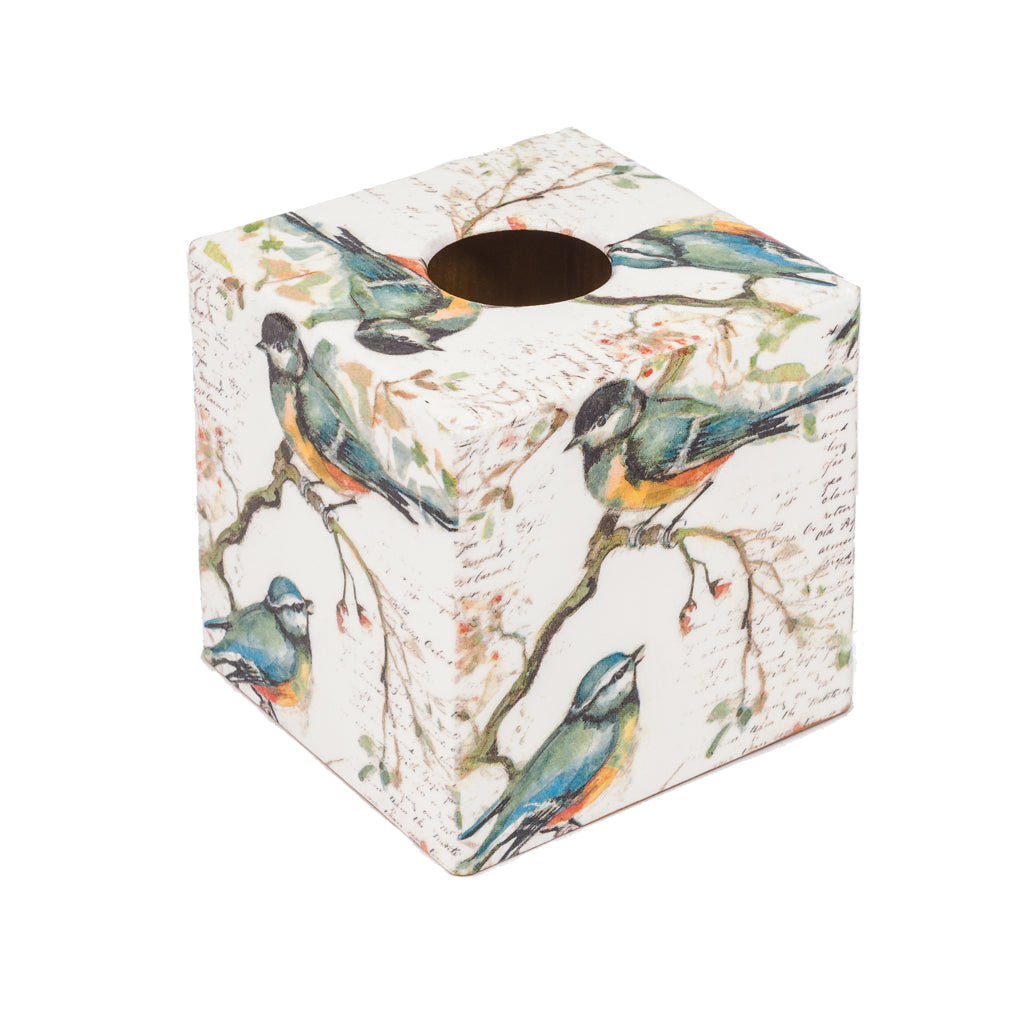 Titmouse Tissue Box Cover - Handmade | Crackpots