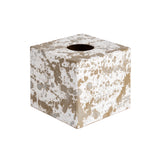 Splatter wooden Tissue Box Cover