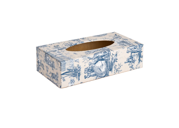 Blue Toile woodenTissue Box Cover