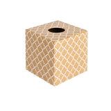 Gold Moroccan wooden Tissue Box Cover