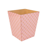 Art Deco Pink wooden Waste Paper Bin