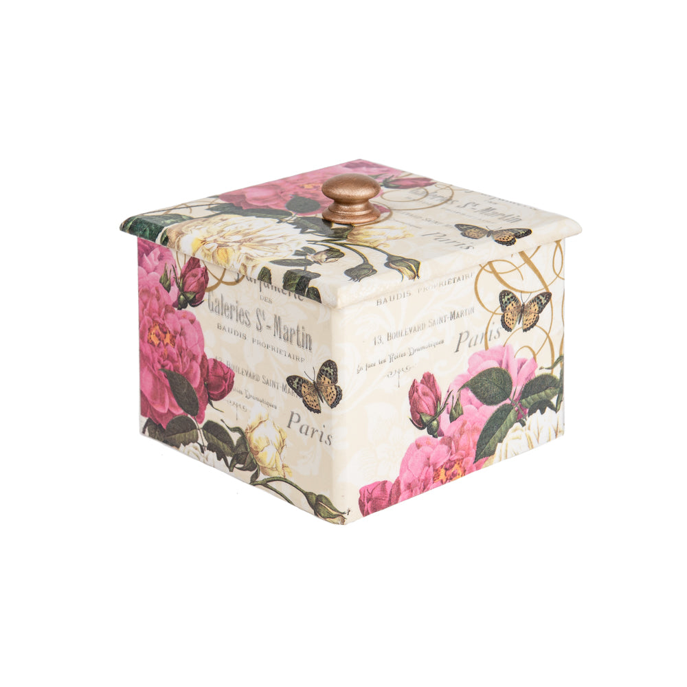 Paris Rose wooden Trinket Box