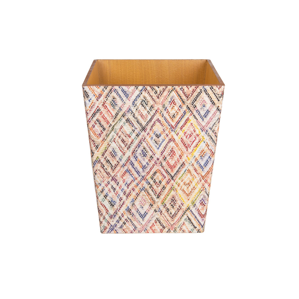 Diamond Rainbow wooden Waste Paper Bin