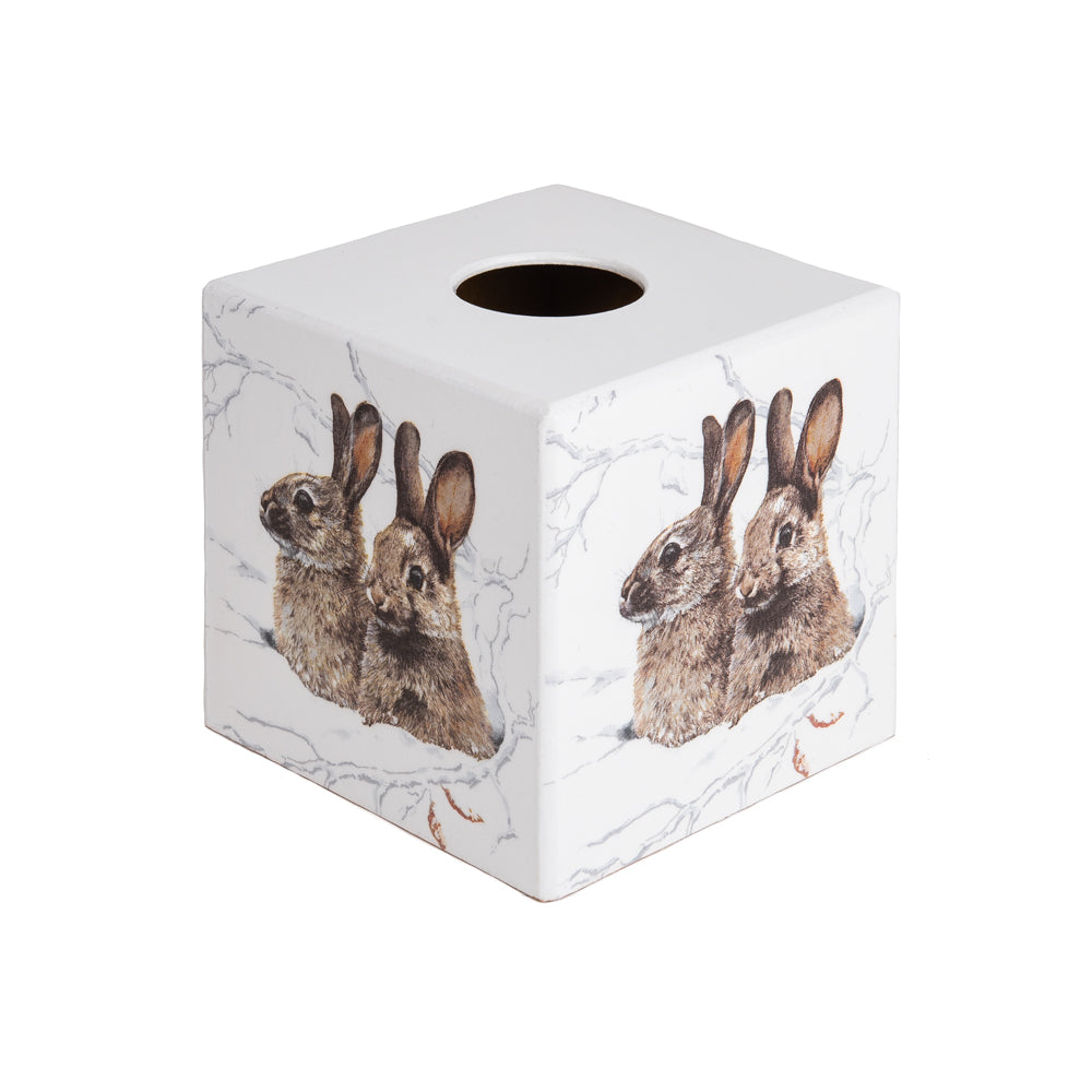 Bunny Rabbits wooden Tissue Box Cover