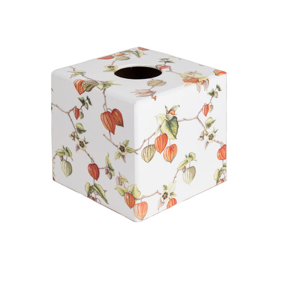 Chinese Lantern wooden tissue box cover