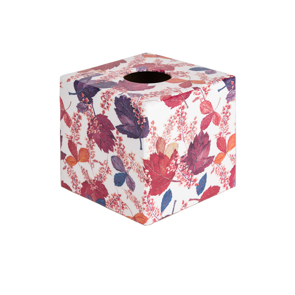 Purple Autumn wooden tissue box