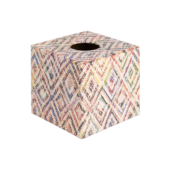 Diamond Rainbow wooden Tissue Box