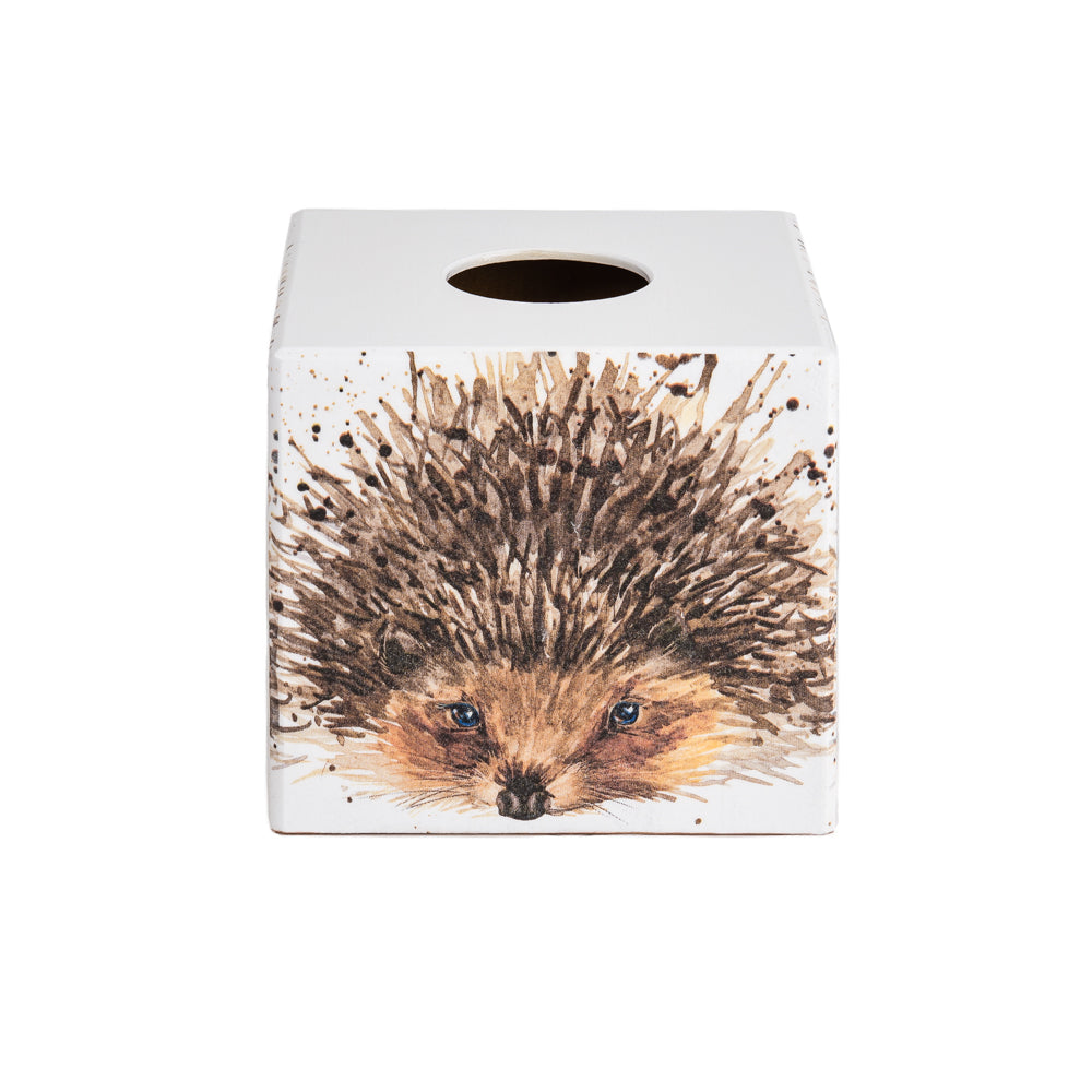 Hedgehog wooden Tissue Box Cover