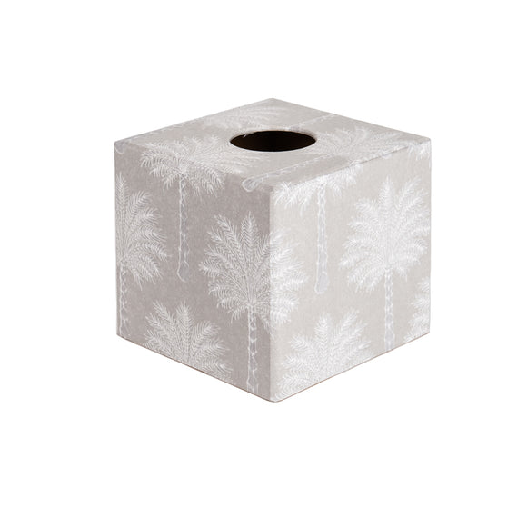 White Palm wooden tissue box cover