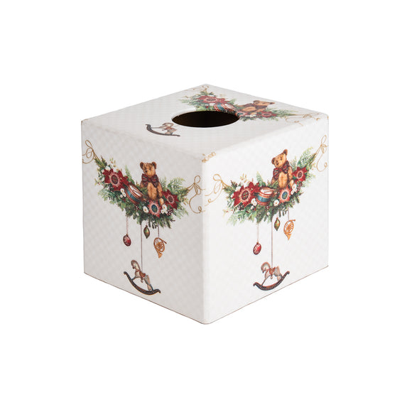 Christmas wooden Tissue Box Cover