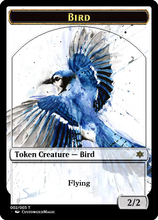 Load image into Gallery viewer, Bird Token - Blue 2/2 Flying