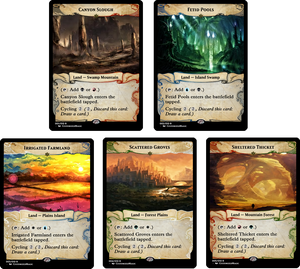 Cycling Dual Lands - Ixalan Frame