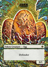 Load image into Gallery viewer, Egg Token 0/1 Green with Defender (For Atla Palani, Nest Tender)