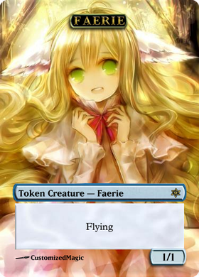 Faerie Token - Blue 1/1 with Flying