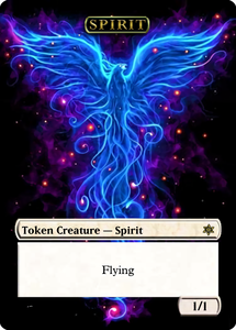 Spirit Token - White 1/1 Flying (For Kykar)