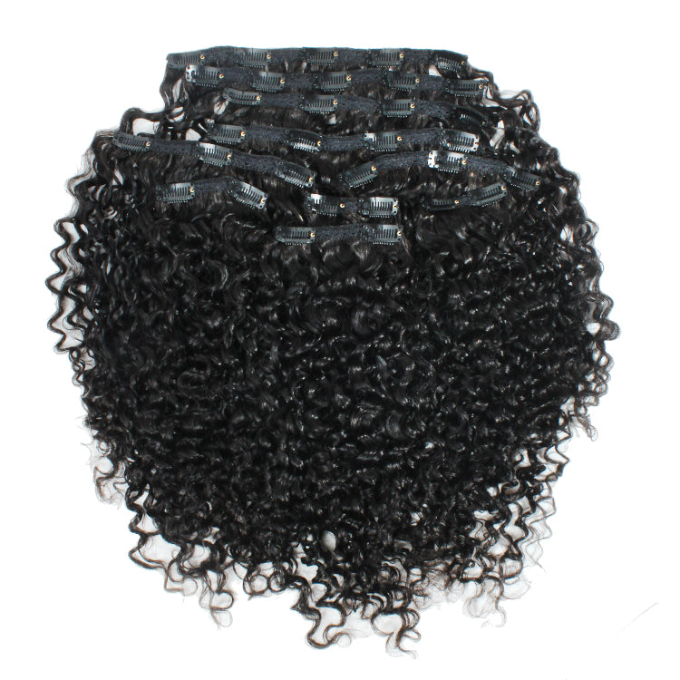 3a-3b Afro Curly Clip -In Hair Extensions